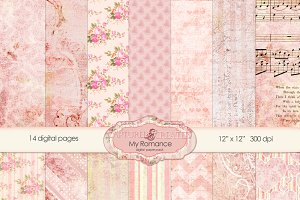 My Romance Digital Paper Pack -14