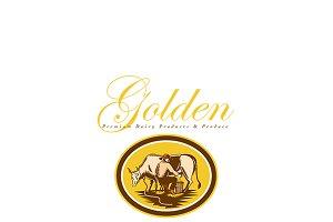 Golden Premium Dairy Produce Logo