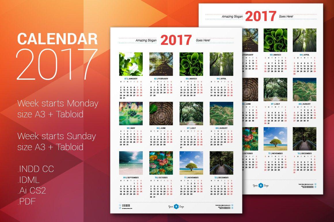 Calendar Design Size : Calendar poster stationery templates creative market
