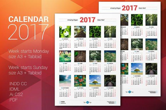 Calendar Poster Design : Calendar poster stationery templates creative market