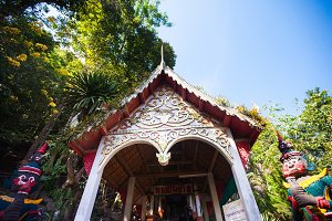 Temple near caves in Chiang Dao
