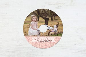 CD Label Template | Tea Party