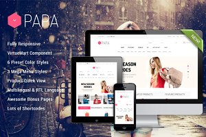 SJ Papa - Awesome eCommerce template