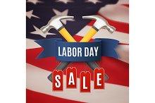 Labor day sale background.