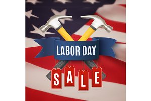 Labor day sale background.