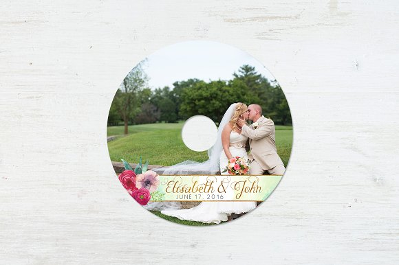 CD Label Template | Lovers in Stationery Templates - product preview 3
