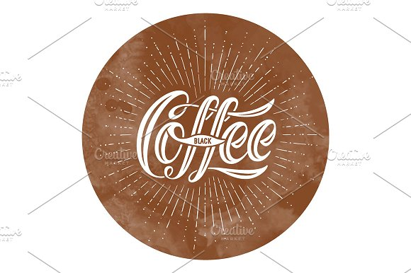 Coffee. Hand-drawn lettering - Illustrations