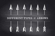 Set of vintage arrows