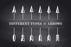 Set of vintage arrows