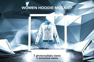 Women Hoodie Mock-up/Animated shots