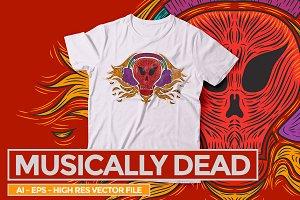 Musically Dead - Vector illustration