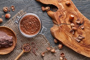Hazelnut spread and ingredients