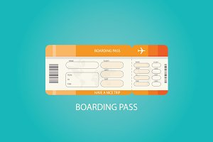 Illustration of boarding pass