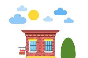 Candy shop flat design vector
