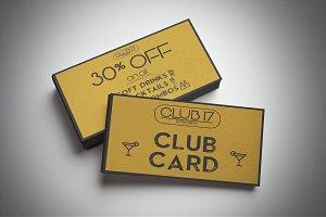 Bar Club Card