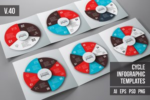 Infographics template set v.40
