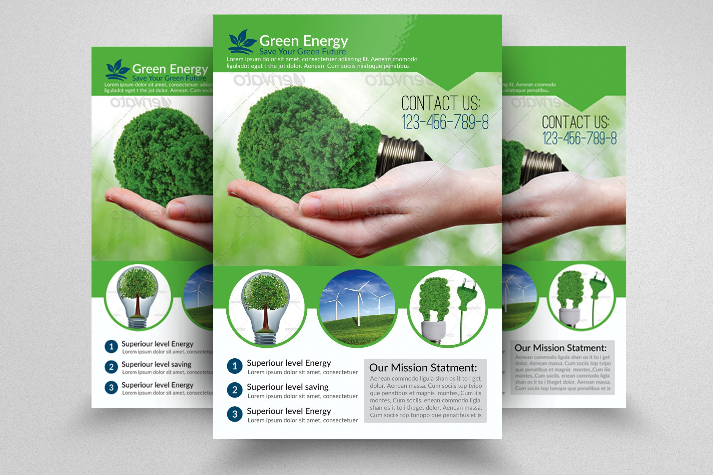 flyers and brochures templates - green energy flyer template flyer templates creative