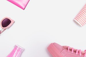 funky pink set