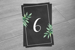 Printabl Wedding Table Number