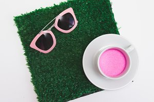 sunglasses and cup