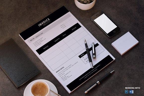 photographer invoice template stationery templates creative market