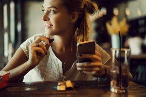 Beauty woman using smartphone