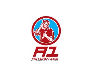 A1 Car Mechanic Logo