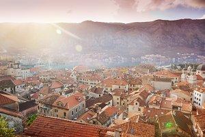 Kotor, Montenegro, at sunset.