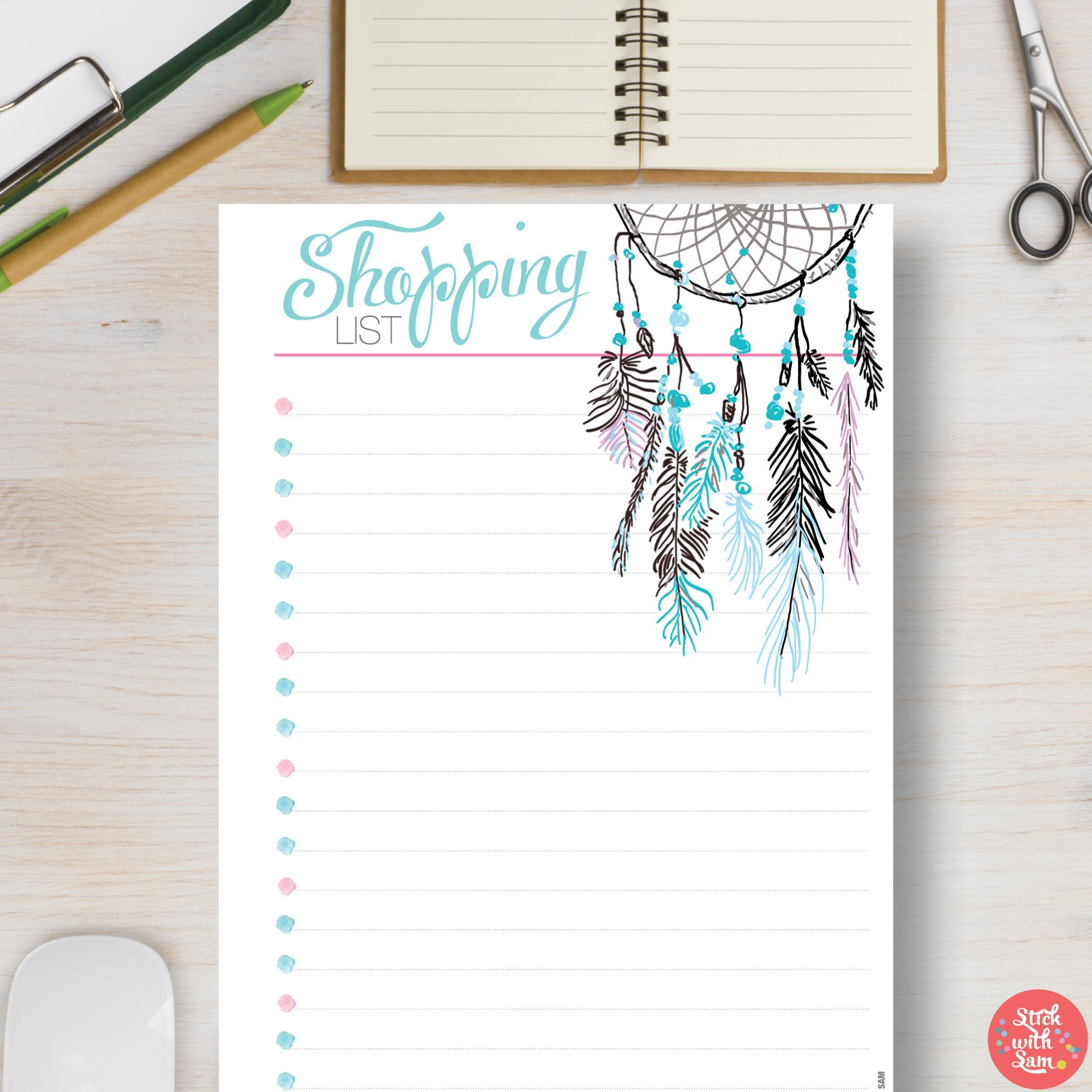 printable planner a4 a5 stationery templates creative market