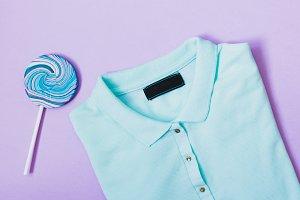 t-shirt and lollipop