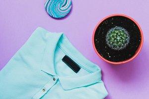 t-shirt, lollipop and cactus