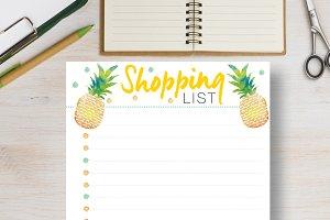 Pineapple Planner - Letter & Half