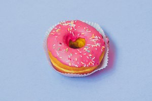 donut with pink topping