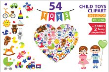 Children toys clipart.54 flat vector