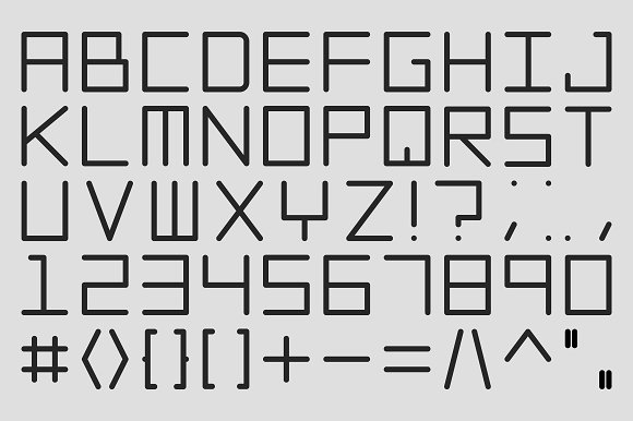 Vector digital alphabet set.