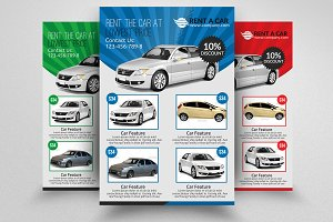 Rent A Car Flyer Template