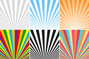 Collection of striped backgrounds.