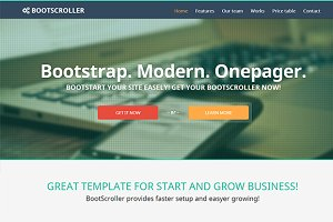 BootScroller one page Bootstrap res…