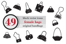 Black icons female bags