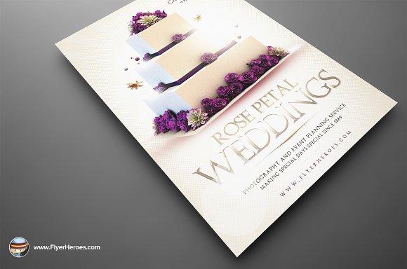 Wedding PSD Flyer Template Flyer Templates on Creative Market – Wedding Flyer