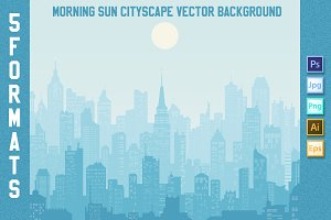 Morning sun Cityscape Background