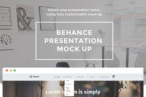 Behance presentation mock up
