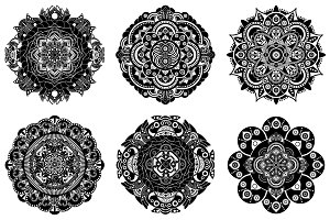 Set of mandala elements