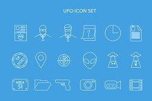 UFO icon set. Vector