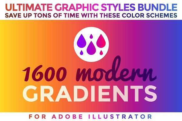 Photoshop Gradients: ToonPlanet Vector Assets - 1600 Gradients Graphic Styles Bundle