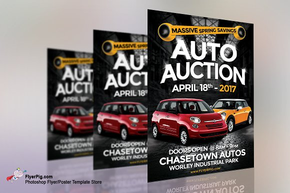 Auto Sales Flyer Flyer Templates Creative Market