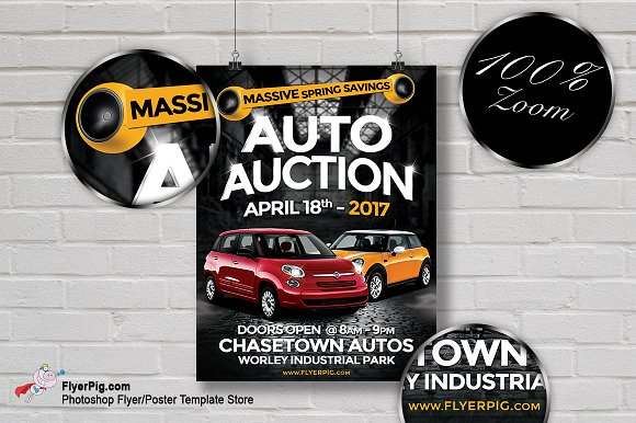 auto sales flyer flyer templates creative market