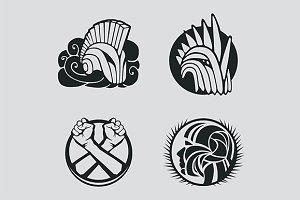 Knight helmet logo template