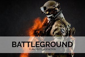 Battleground Flame Phtoshop Action
