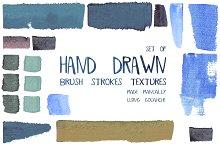 Hand drawn brush stroke textures